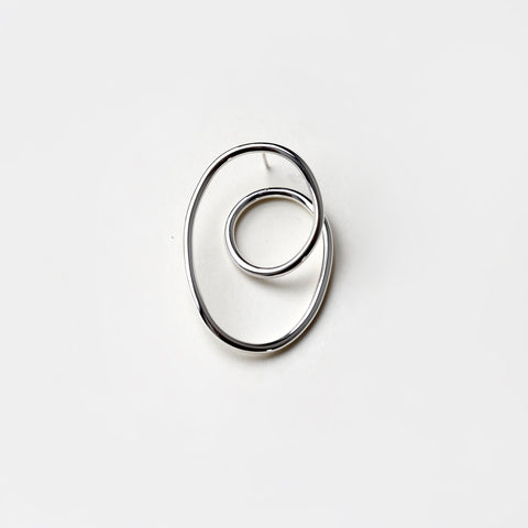 SILVER ORBIT EARRING