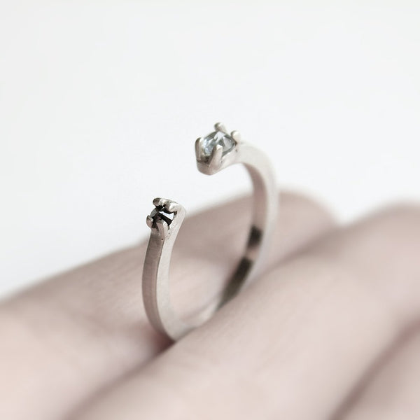 TWO SILVER RING - MIRTA jewelry