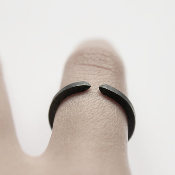 TWO CLOSE OXIDIZED RING