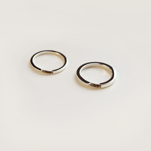 SMALL TORSION RING - MIRTA jewelry