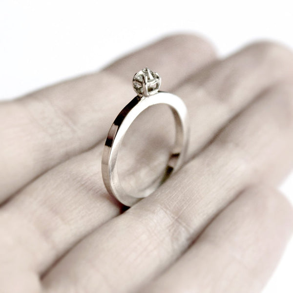 WHITE THORN RING - MIRTA jewelry