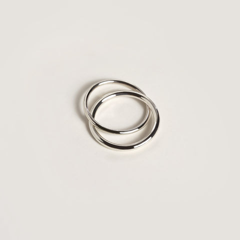 SILVER LOVERS RING