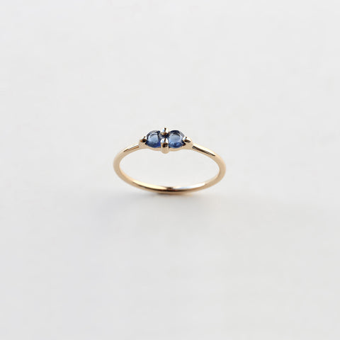 PAIRED SAPPHIRE RING