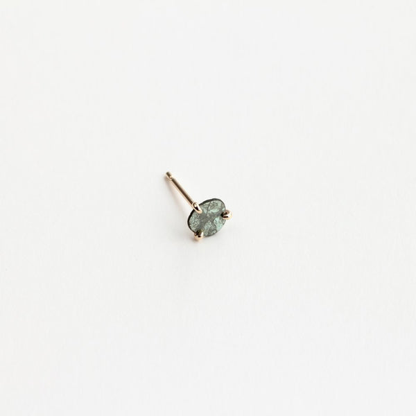 DIAMOND SLICE STUD EARRINGS - MIRTA jewelry