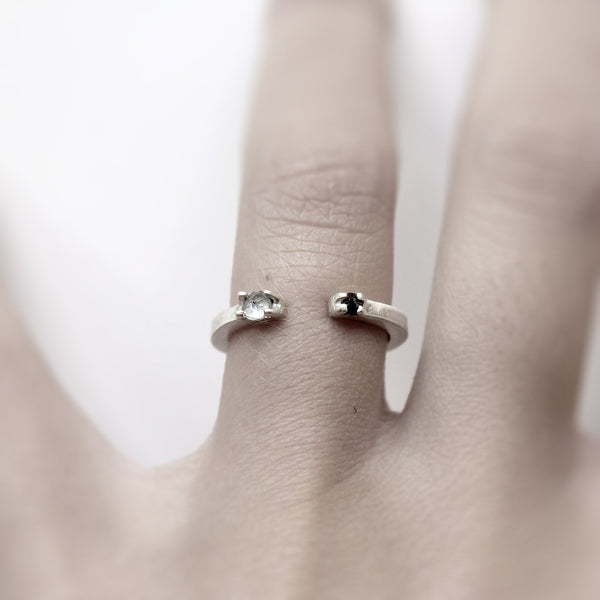 TWO SILVER RING