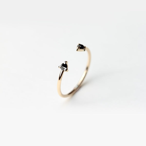 REVERSE DOUBLE BLACK DIAMOND RING
