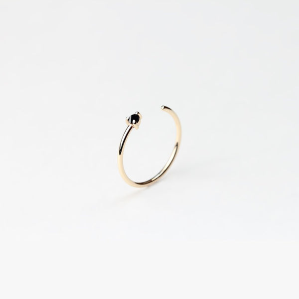REVERSE BLACK DIAMOND GOLD RING