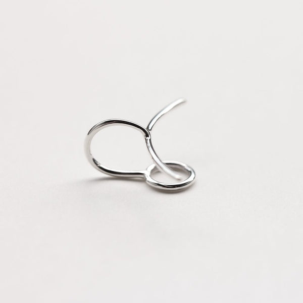 CIRCLE & LINE EAR CUFF - MIRTA jewelry