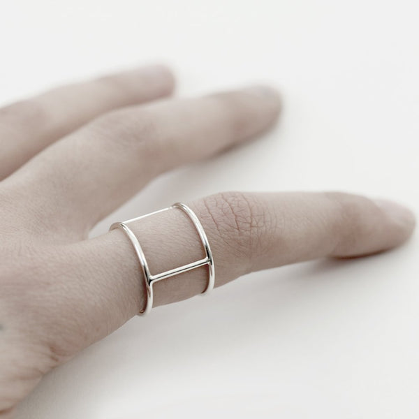 SILVER PERSONAL ARMOR 02 RING