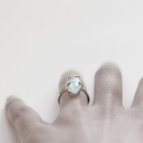 AQUAMARINE ROCK RING