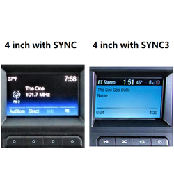 SYNC3 module 4.3 inch to 8 inch with touch control upgrade for Selected 2018 and later Ford Vehicles