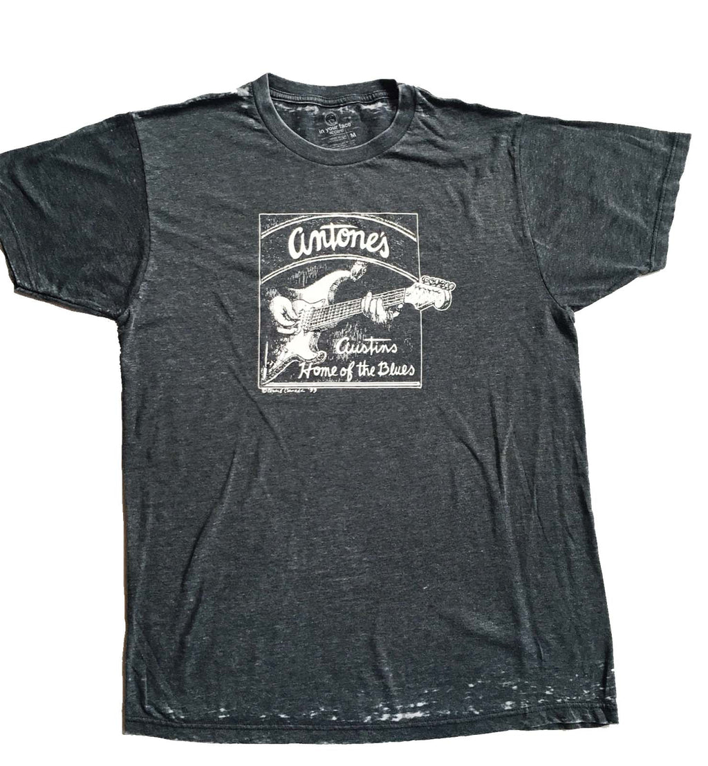 Grey Burnout Guitar Logo Shirt