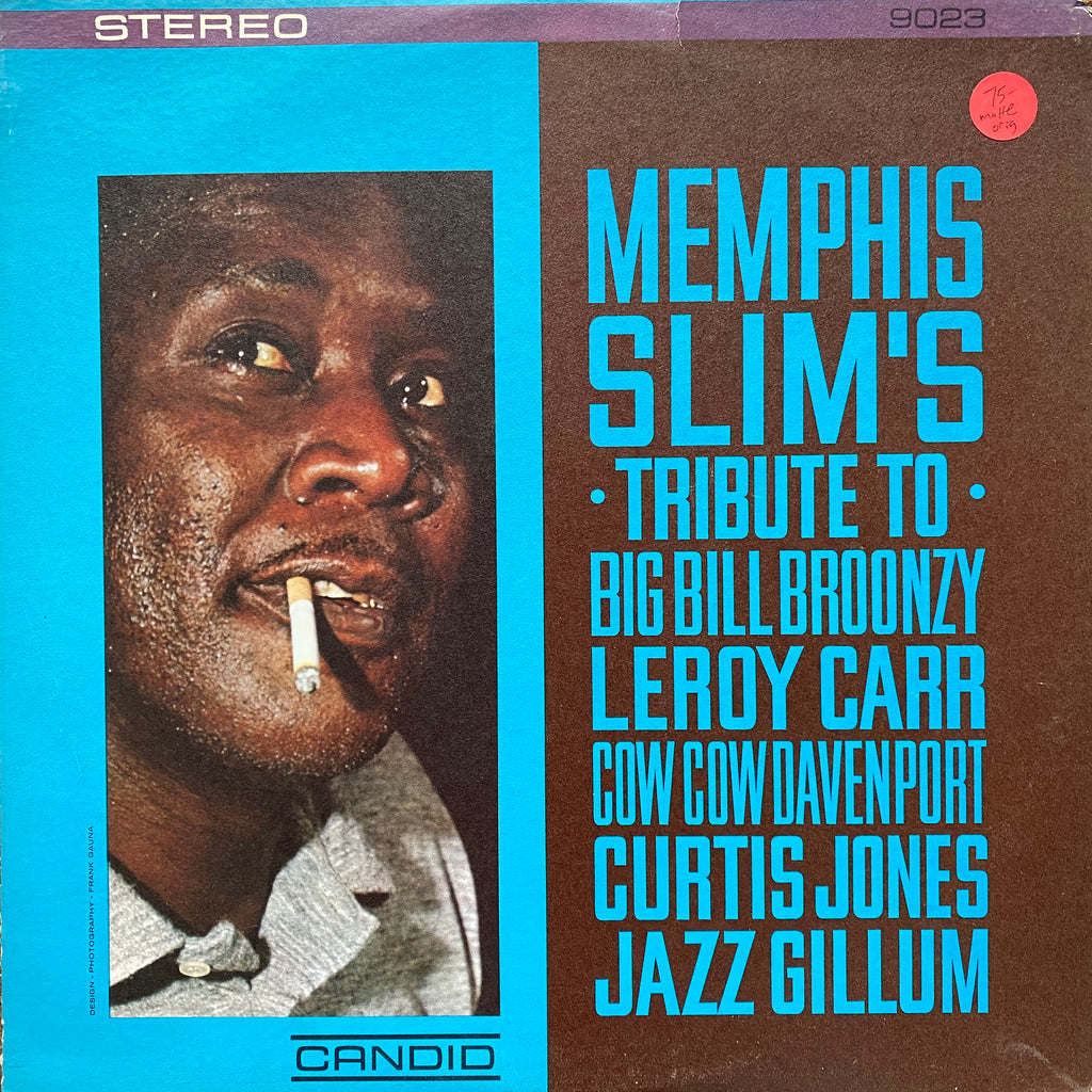 Memphis Slim Tribute to Big Bill Broonzy Leroy Carr Cow Cow Davenport Curtis Jones Jazz Gillum Vinyl