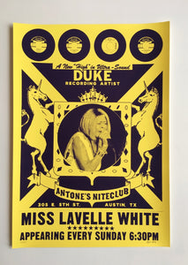 Miss Lavelle White Poster