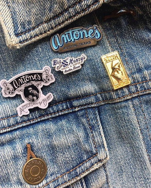 Antone's Blue Logo Lapel Pin