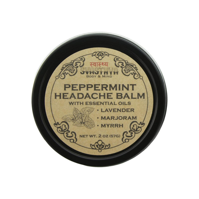 Svasthya Body & Mind Peppermint Headache Balm 2 oz