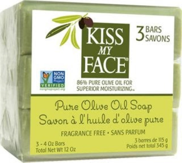 Kiss My Face Pure Olive Oil Bar Soap Pack