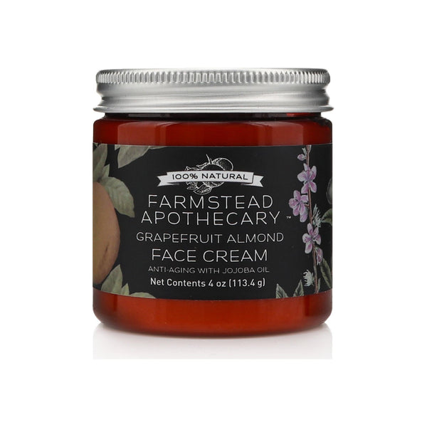 Farmstead Apothecary Grapefruit Almond Face Cream with Jojoba Oil