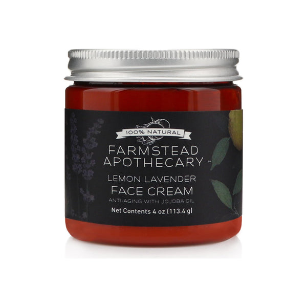 Farmstead Apothecary Lemon Lavender Face Cream with Jojoba Oil