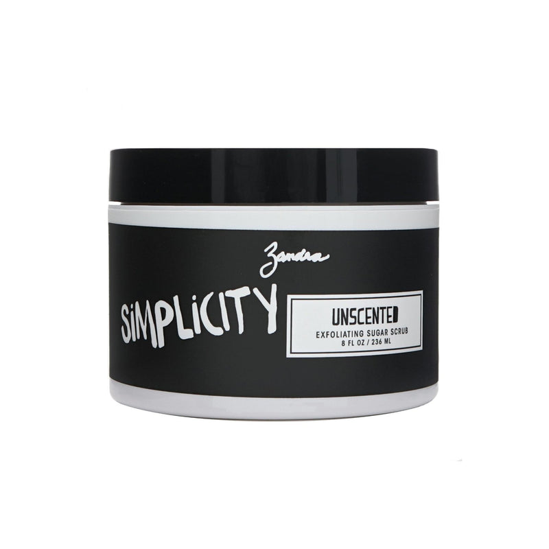 Zandra Exfoliating Sugar Scrub - UNSCENTED (8 oz)