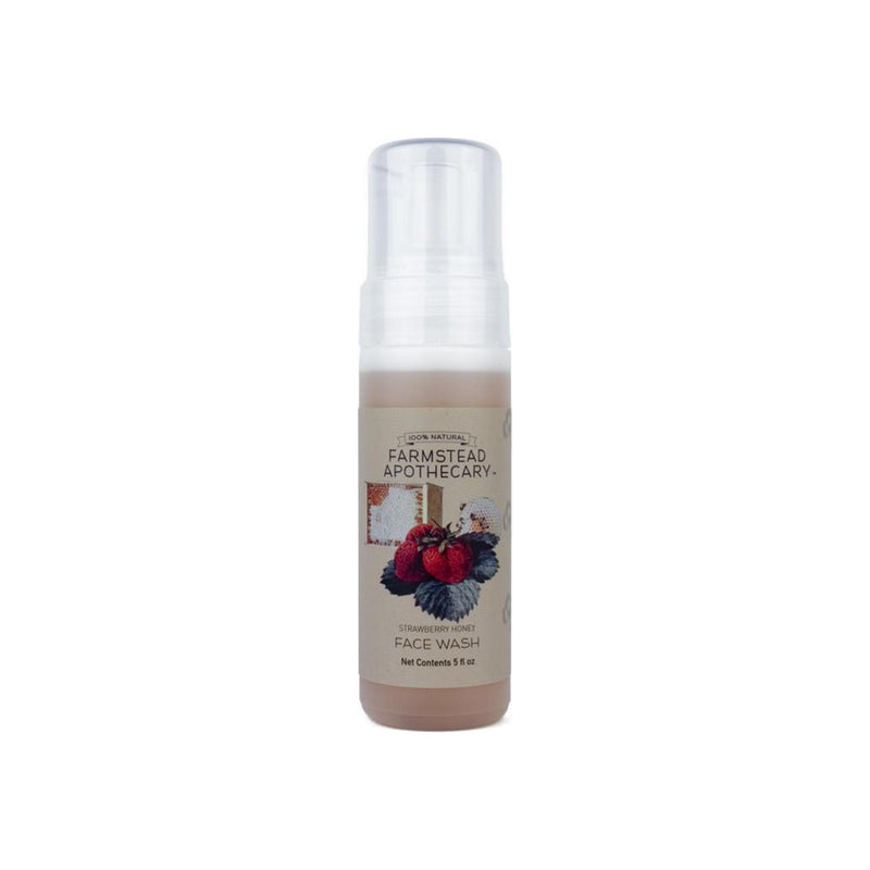 Farmstead Apothecary Foaming Face Wash, Strawberry Honey 5 oz [859455006064]