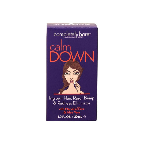 Completely Bare Calm Down Ingrown Hair, Razor Bump & Redness Eliminator 1 oz [854357003029]