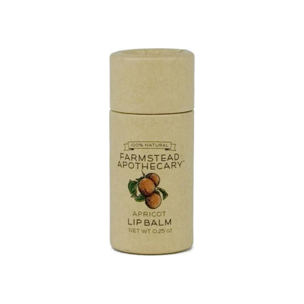 Farmstead Apothecary  Lip Balm, Apricot .25 oz [859455006026]