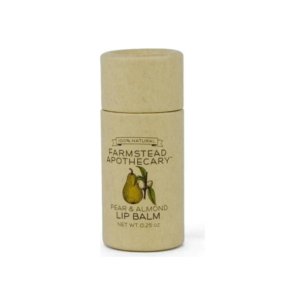 Farmstead Apothecary Lip Balm, Pear & Almond .25 oz [859455006019]