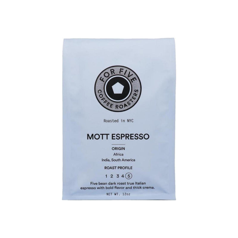 For Five Coffee Roasters Mott Espresso Whole Bean Dark Roast