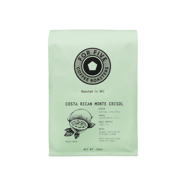 For Five Coffee Roasters Costa Rica Monte Crisol Ground Light Roast