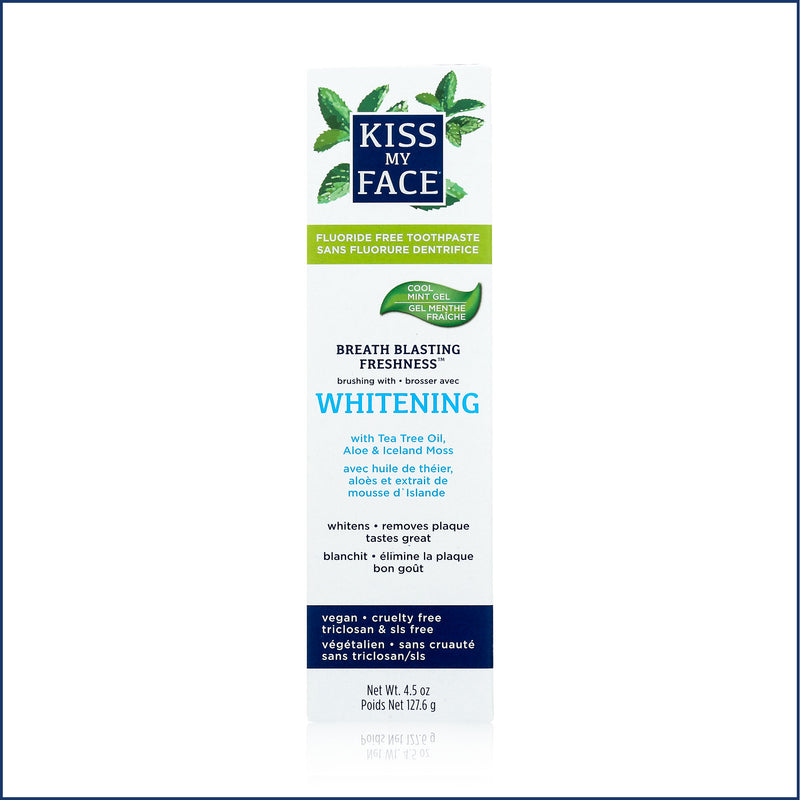 Kiss My Face Fluoride Free Whitening Cool Mint Gel