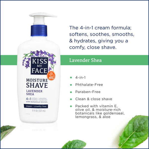 Kiss My Face Lavender & Shea Moisture Shave
