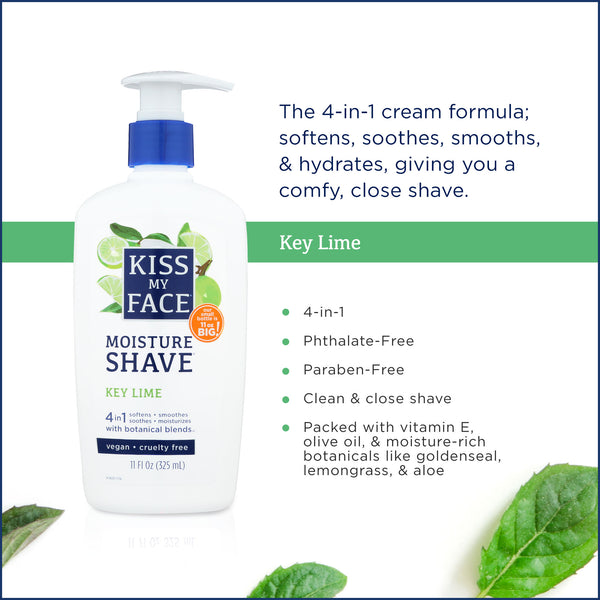 Kiss My Face Cool Mint Moisture Shave