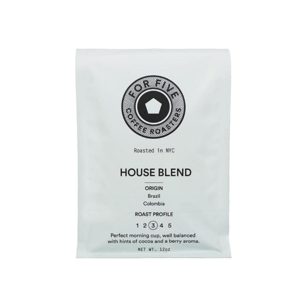 For Five Coffee Roasters NYC House Blend Ground Medium Roast