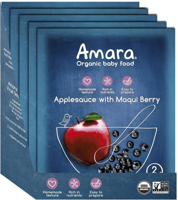 Amara Organic Applesauce with Maqui Berry Baby Food