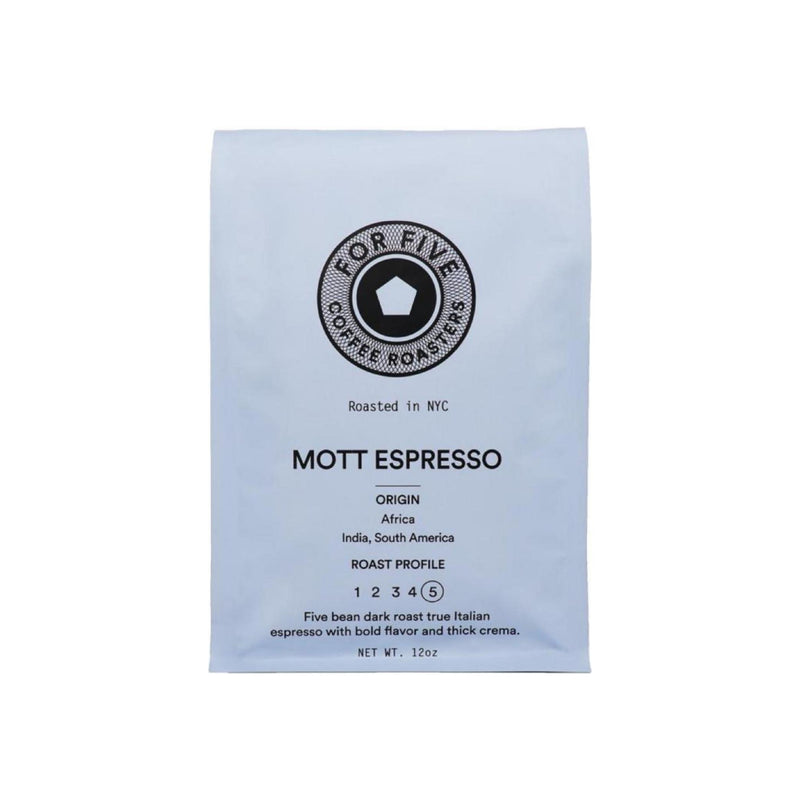 For Five Coffee Roasters Mott Espresso Ground 12 oz [853473008284]