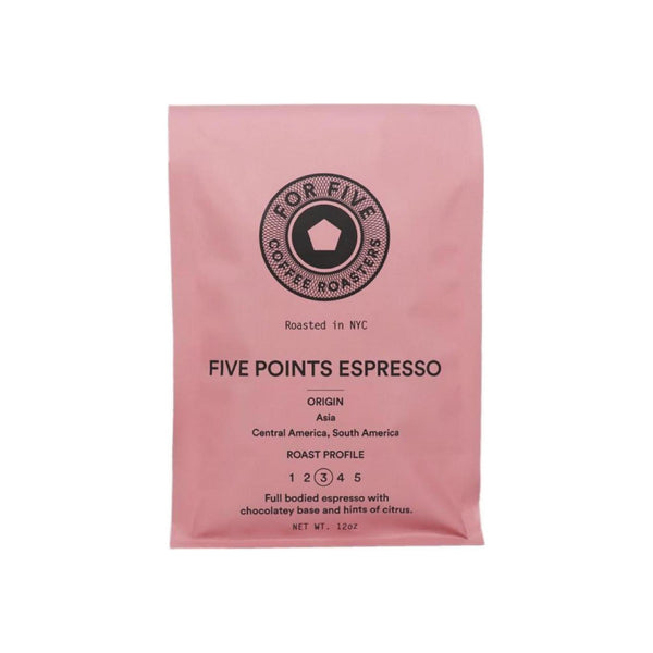 For Five Coffee Roasters Five Points Espresso Whole Bean Medium Roast