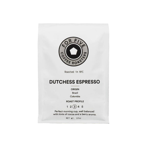 For Five Coffee Roasters Dutchess Espresso Ground Medium Roast