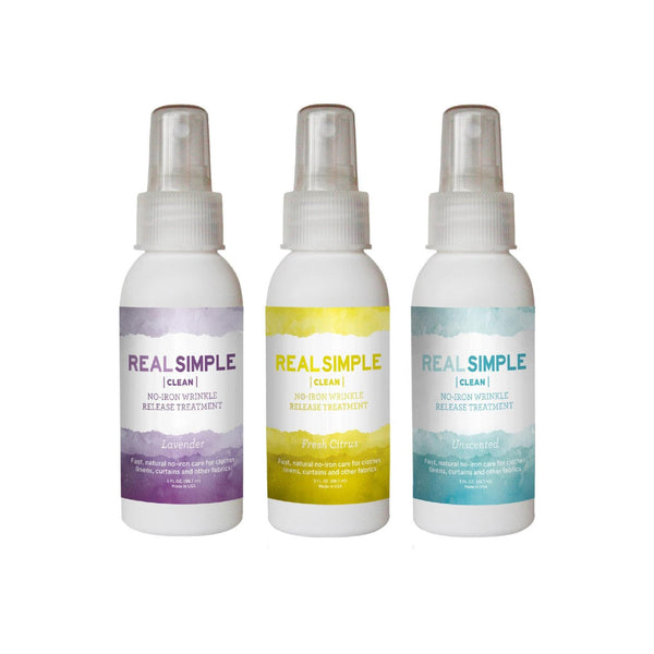 Real Simple No Iron Fabric Wrinkle Release Variety Pack - Citrus/Lemongrass, Lavender & Unscented  1 ea [191567461943]