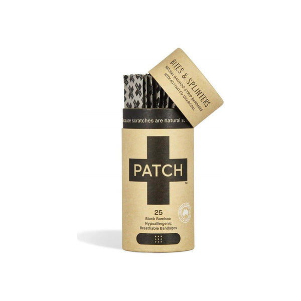 PATCH Eco-Friendly Bamboo Adhesive Strip Bandages, Activated Charcoal