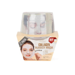LINDSAY HOME AESTHETICS 2 Pack Collagen Rubber Mask 5.04  oz [192084000080]