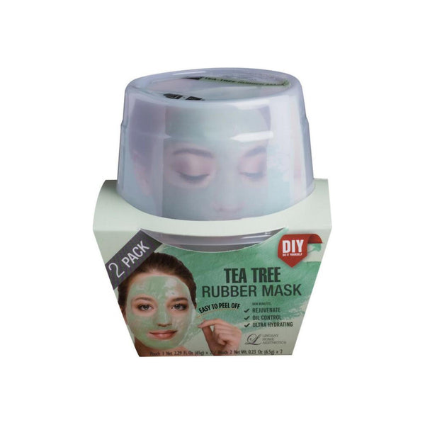 LINDSAY HOME AESTHETICS 2 Pack Tea Tree Rubber Mask  5.04  oz [192084000059]