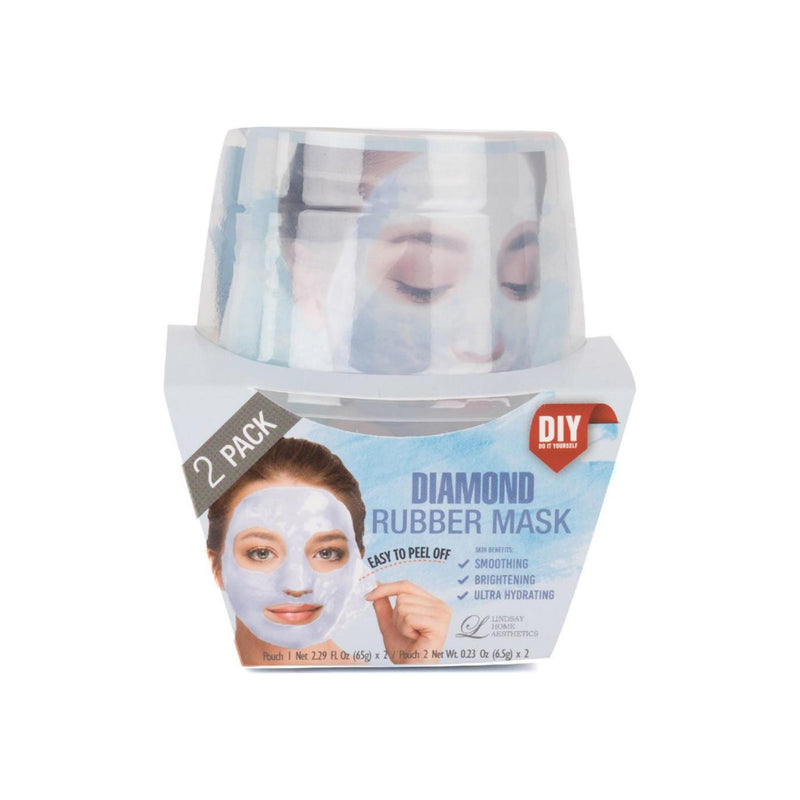 LINDSAY HOME AESTHETICS 2 Pack Diamond Rubber Mask 5.04 oz [192084000172]