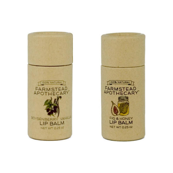 Farmstead Apothecary Boysenberry Vanilla and Fig & Honey Lip Balm Pack