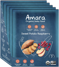 Amara Organic Sweet Potato Raspberry Baby Food