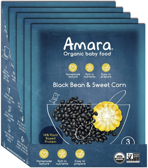Amara Organic Black Bean & Sweet Corn Baby Food