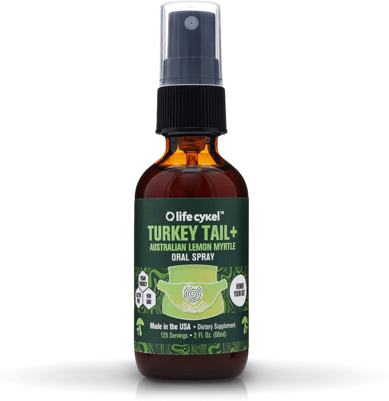 Life Cykel Turkey Tail Mushroom with Lemon Myrtle Oral Spray, 2 oz