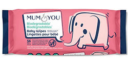 Mum and You New 100% Biodegradable Baby Wipes, 56 ct - 1pk