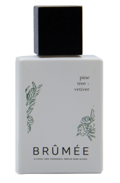 Brumee Pine Tree and Vetiver Alcohol-Free Fragrance