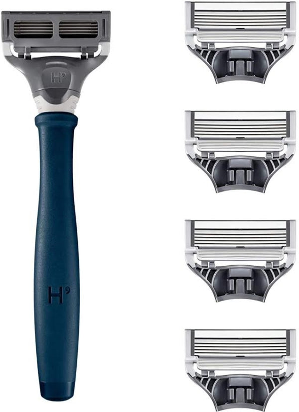 Truman Men's Navy Blue Razor Set